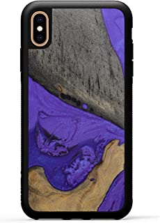 product image for Carved - Wood+Resin Case for iPhone Xs Max - One-of-A-Kind, Protective Traveler Bumper Cover (ID: 317310, Purple)
