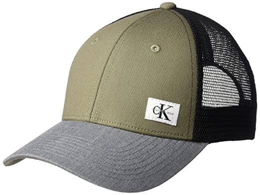 a8d3dca579807 Calvin Klein Jeans Men's Snapback Trucker Hat, Army ONE Size at ...