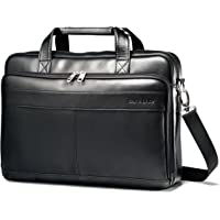 Samsonite Luggage Leather Slim Briefcase with 15.6