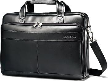Samsonite Luggage Leather Slim Briefcase with 15.6