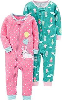 Carters Girls 2-Pack Cotton Pajamas Carters KBC 2-pack Cotton Footed Pajamas