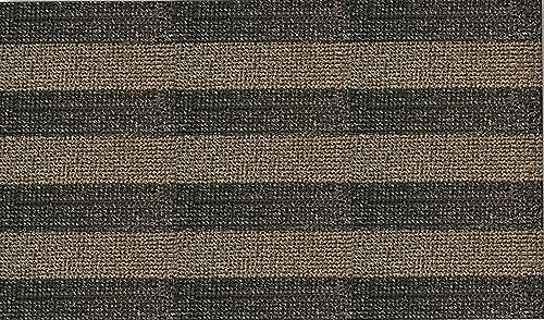 CLEAN MACHINE 10376626 Patio Stripe Astroturf Doormat, Desert Taupe, 35.5 x 59.5