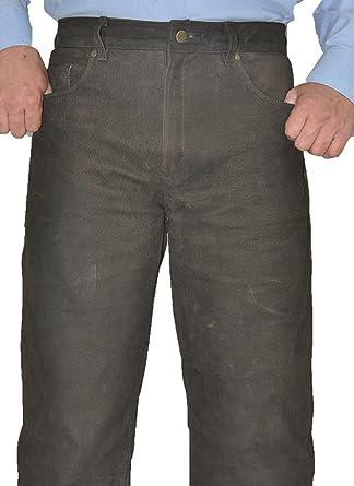 Fuente Lederhose Herren Damen lang - Lederjeans- Echt Leder, Lederhose  Jeans 501 Braun- Motorrad Lederjeans- Trachten Lederhose lang  Amazon.de   Bekleidung 8df59e1388