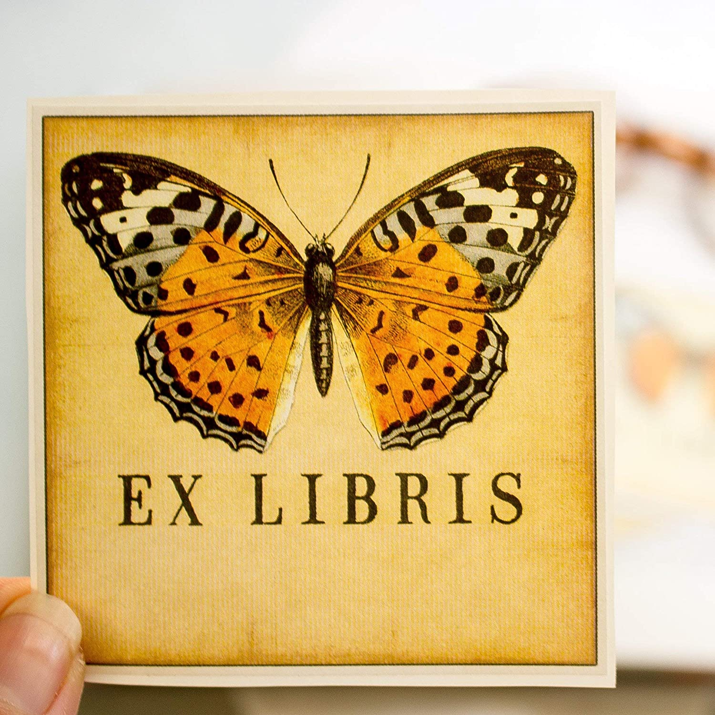 Sunshine Orange Butterfly Plate