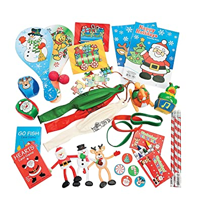 Fun Express Bulk Stocking Stuffer Toy Assortment (52 Pieces) Christmas Novelty Toys: Toys & Games