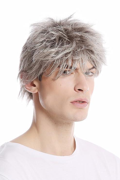 Wig Me Up Gfw1169 51 Perruque Gris Avec Noir Homme Courte Jeune
