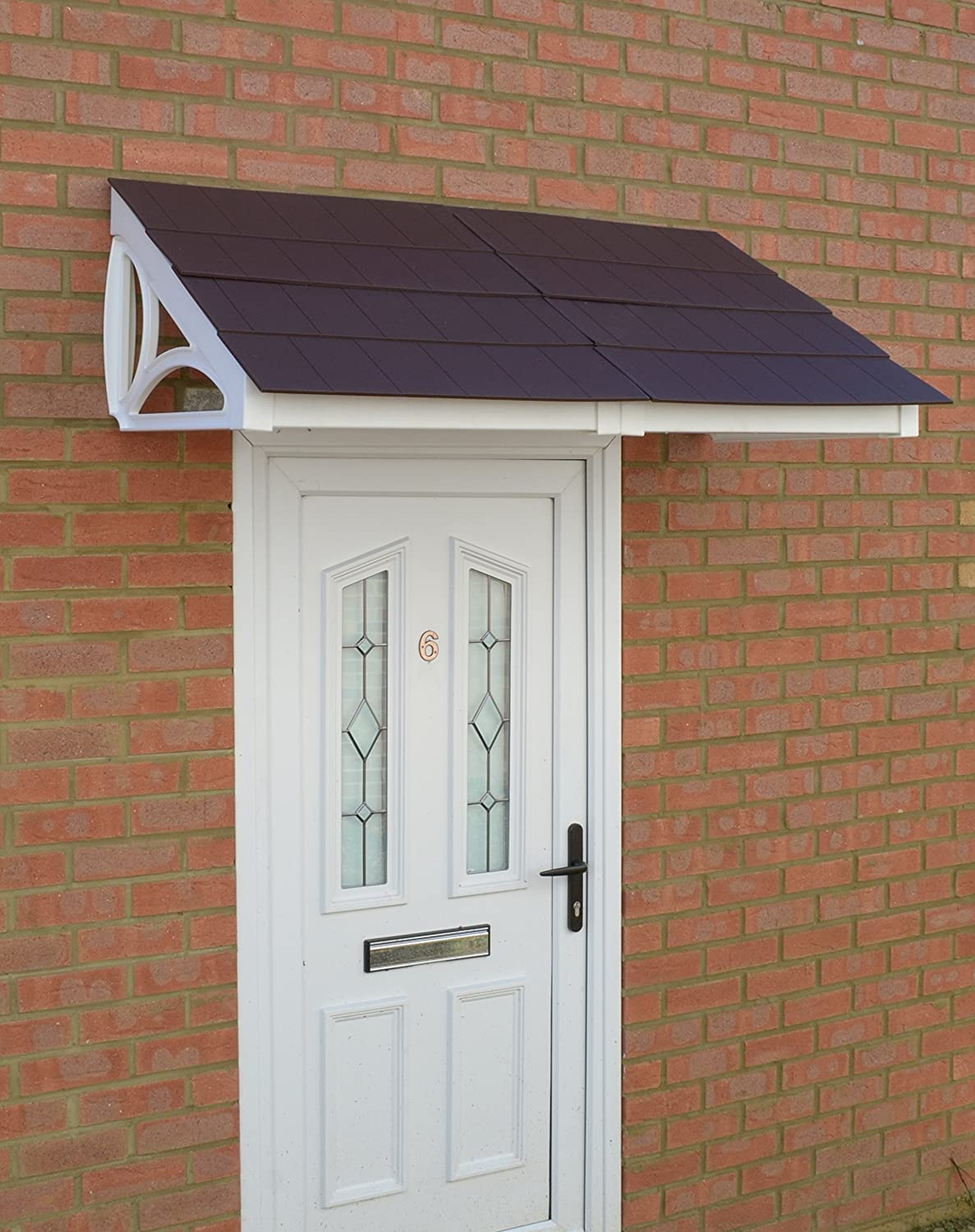 High Quality All Weather Stability Black 1.4m Door Canopy CP0007