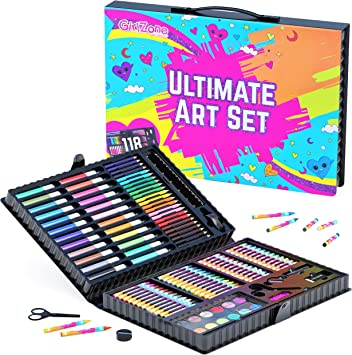 GirlZone Regalos para Niñas -Estuche Colores, Kit Manualidades, 118 Piezas, Pinturas para Niños, Set De Arte Infantil, Art Set, 3 a 12 años: Amazon.es: Juguetes y juegos