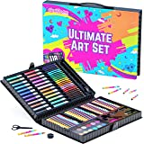 GirlZone Art Set for Girls, 118 Pieces Arts and Crafts Kit for Kids, Great Gift for Girls