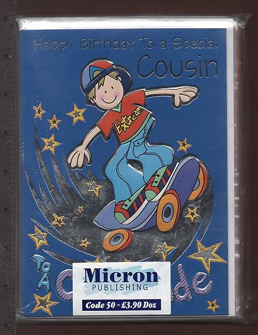 Gc Sp52 6 X Grusse Karten X2 12 In Total Geburtstag Cousin