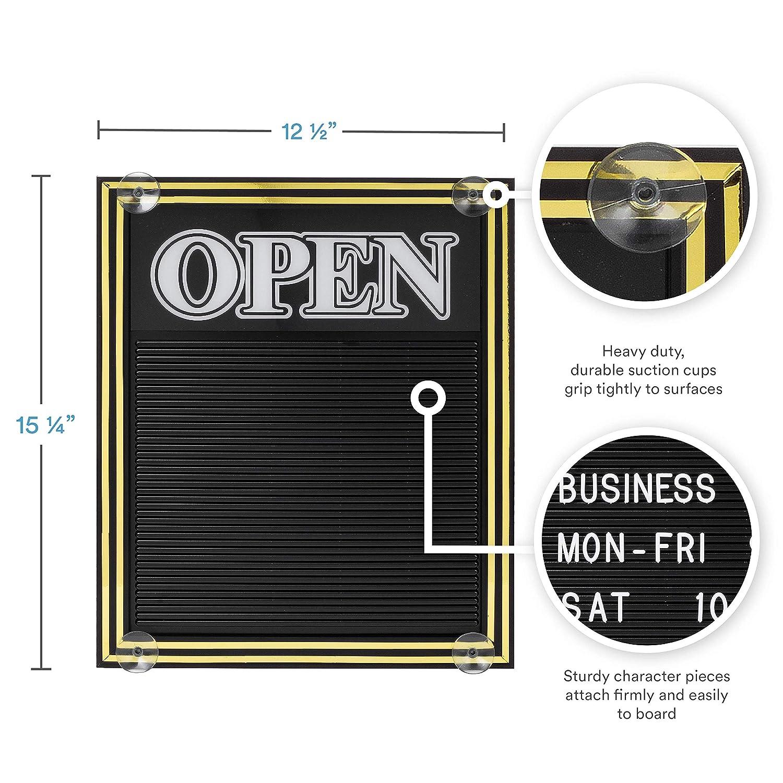 Cartel abierto y cerrado con tablero de mensajes: Amazon.es ...
