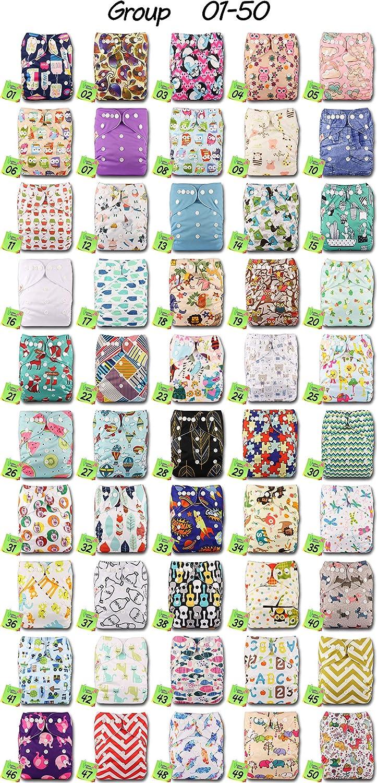 Set de 1 LittleBloom Beb/é Pa/ñales Lavables Pa/ñal Reutilizable Insertos POPPER Cierre