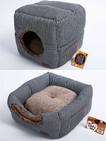 Unique 2 In 1 Cat Bed / Cat Condo U0026 Cat House | A
