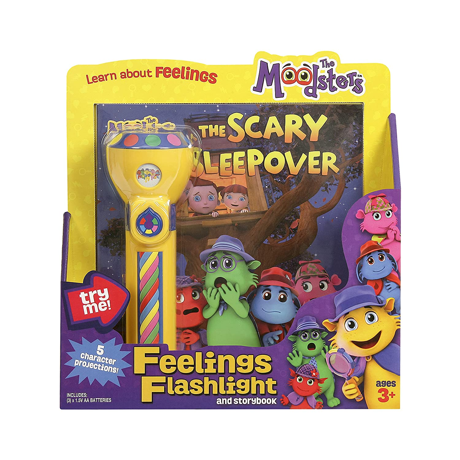 Amazon Moodsters Feelings Flashlight and Storybook Toys & Games
