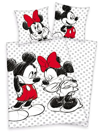 Herding Disneys Minnie Mouse Mickey Maus Bettwäsche 80x80