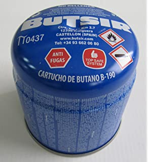 Cartucho de gas 190 gr – bombona perforable con limitador de fugas – botella camping gas