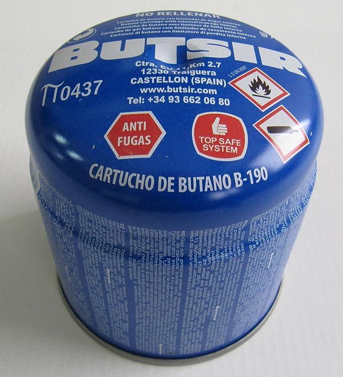 Pack de 5 - cartucho de gas 190 gr - bombona perforable con limitador de fugas - botella camping gas - garantía y calidad Butsir: Amazon.es: Bricolaje y ...