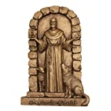 Design Toscano St. Francis of Assisi, Welcome to My Garden Wall Sculpture