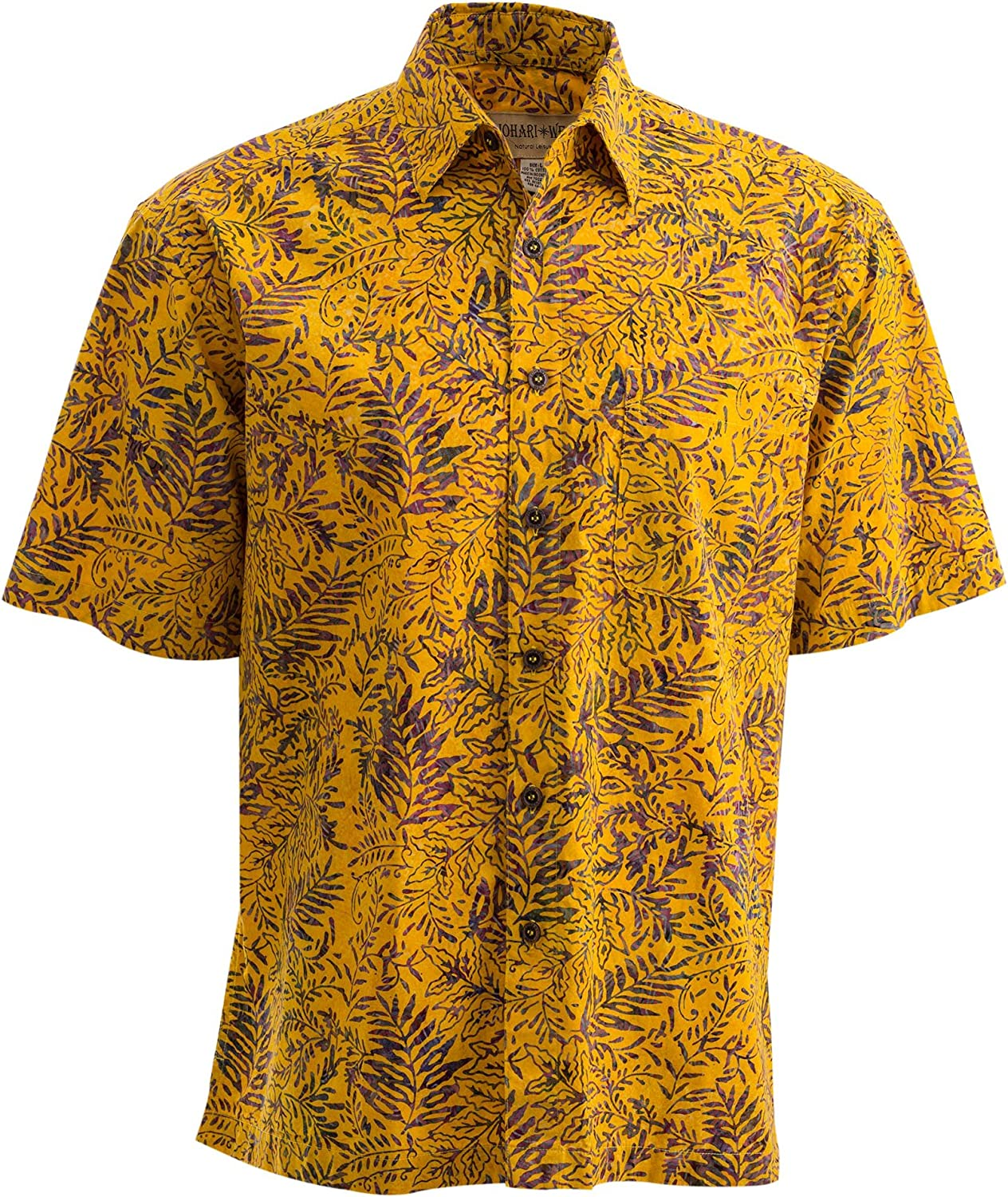 Johari West Tropical Tobago Hawaiian Batik Shirt