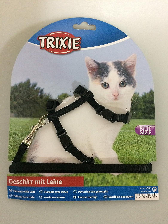 Trixie Set Collier Harnais pour Chatons et Chats Plomb - Coloris aléatoire 4182