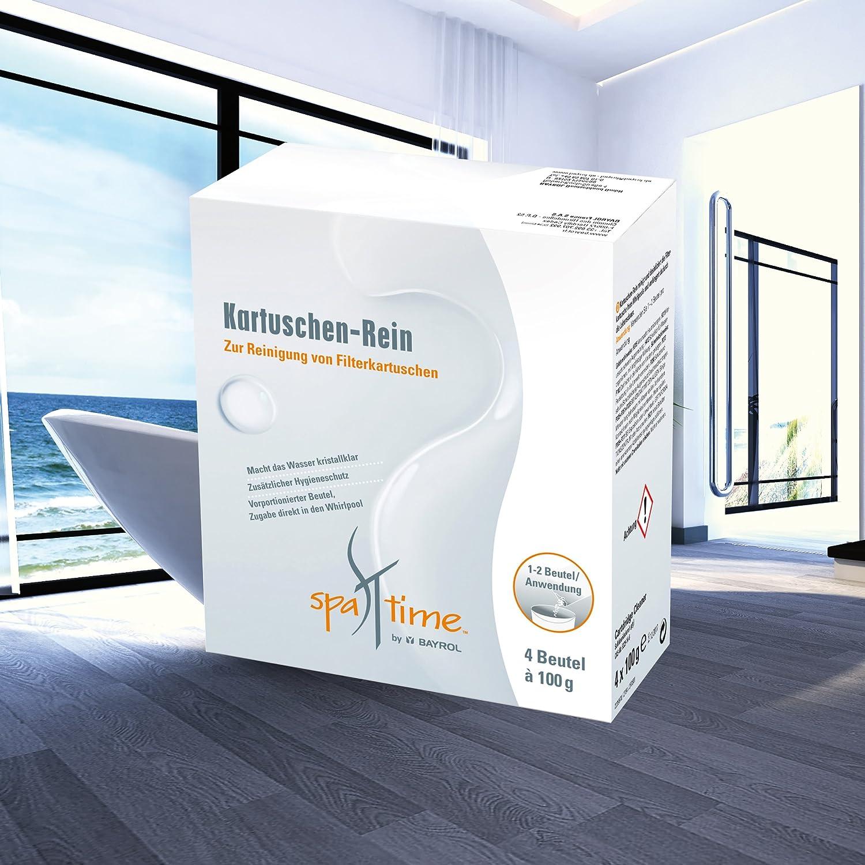 SpaTime Kartuschen-Rein Filterkartuschenreiniger 0,4 kg - zur Reinigung der Filterkartusche im Whirlpool, SPA oder HotTub - von BAYROL