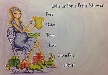 Amazon stylish papyrus baby shower invitations 10 count stylish papyrus baby shower invitations 10 count filmwisefo