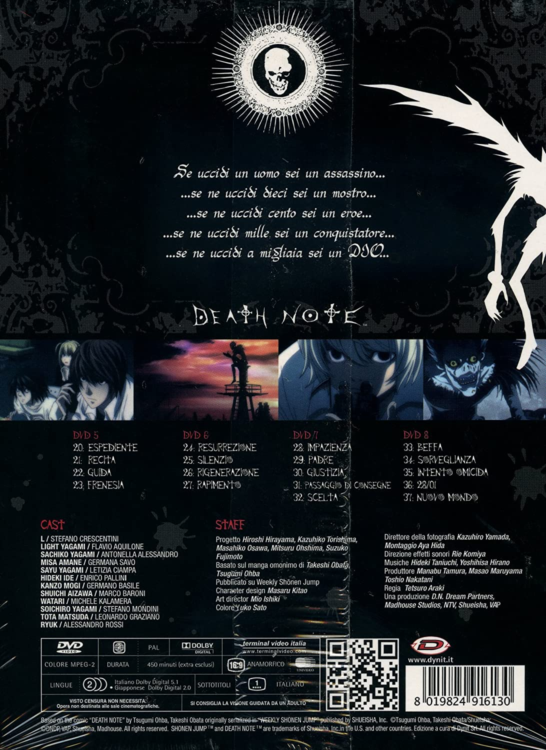 Death Note - The Complete Series Box #02 Eps 20-37 4 Dvd ...