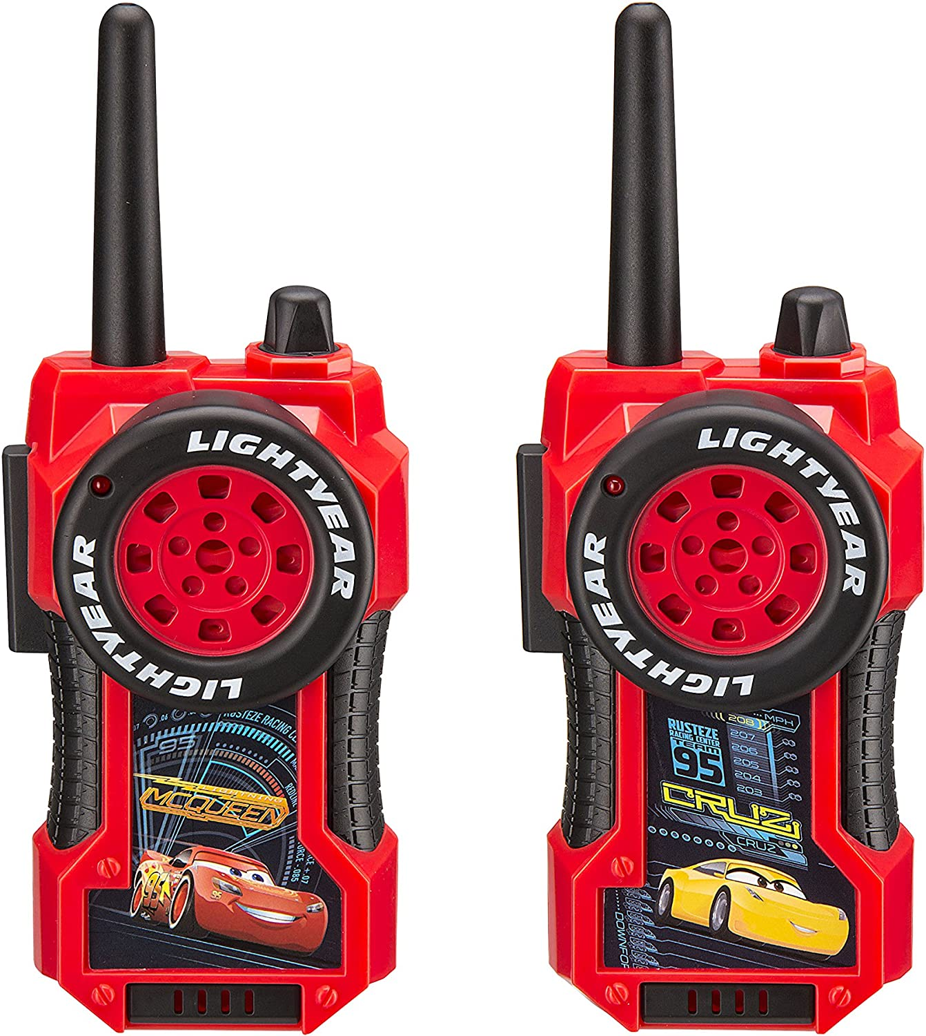 B00503KQ7Y Disney Pixar Cars 3 Movie Lightning McQueen and Cruz Ramirez FRS Long Range Static Free Character Walkie Talkies 91rEw5W3lSL