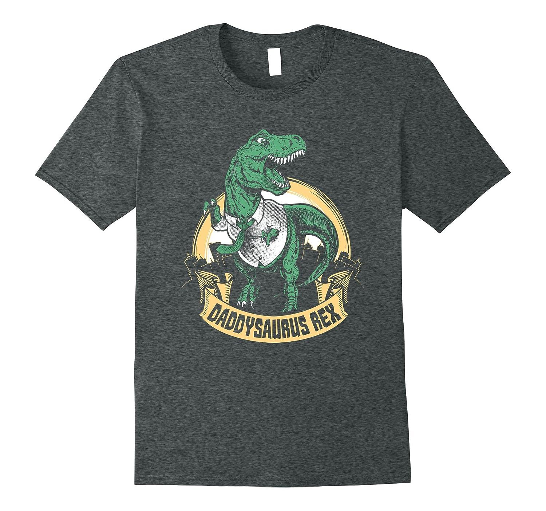 Mens Daddysaurus Rex Trex Dino Father's Day Papa Funny Dad Shirt