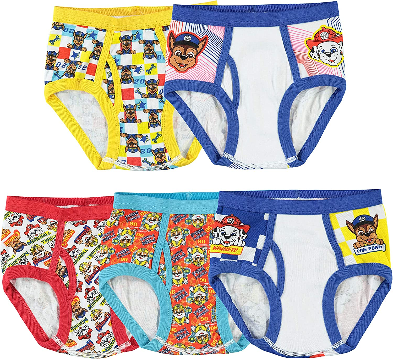 Handcraft Little Boys' Paw Patrol Brief, Pack of Five: Clothing