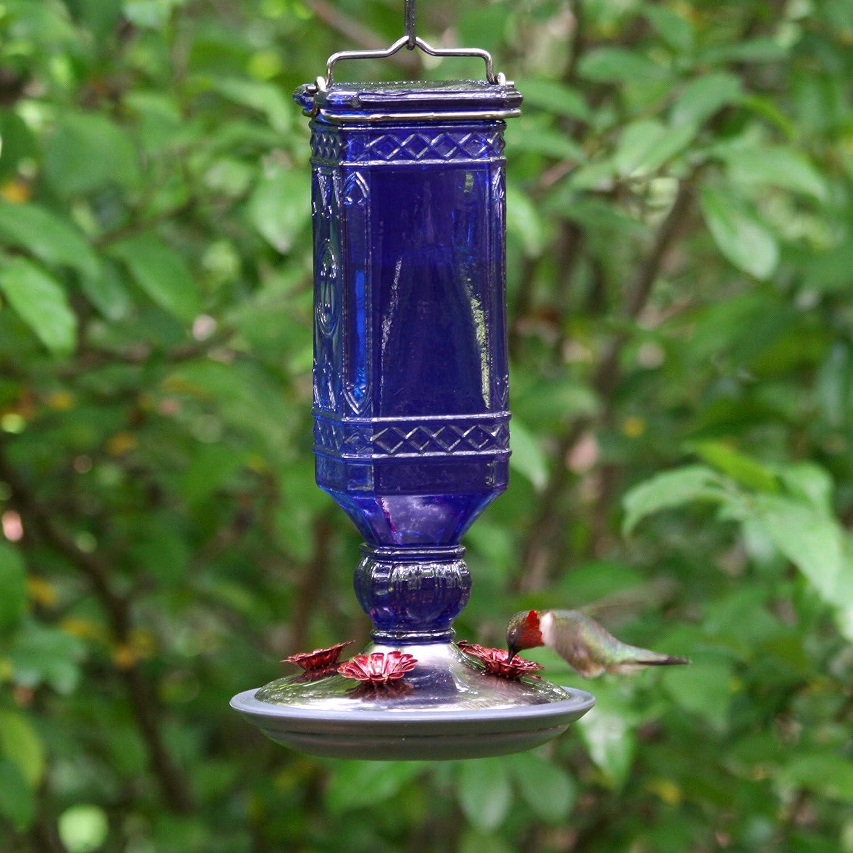 Clear Perky-Pet 8118-2 Glass Antique Bottle Hummingbird Feeder