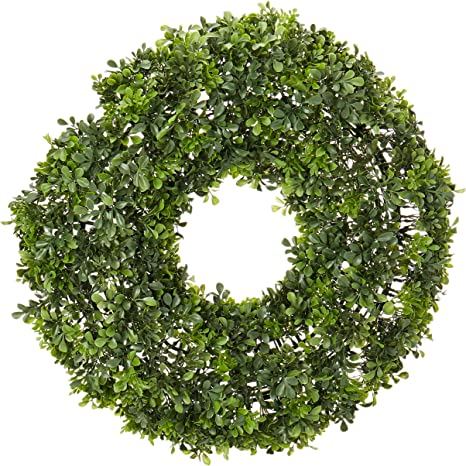 Nearly Natural 4554 22 Boxwood Wreath Home Kitchen