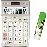 カシオ 本格実務電卓 JS-TK20G 特典付きセット 検算・税計算 ジャストタイプ 12桁