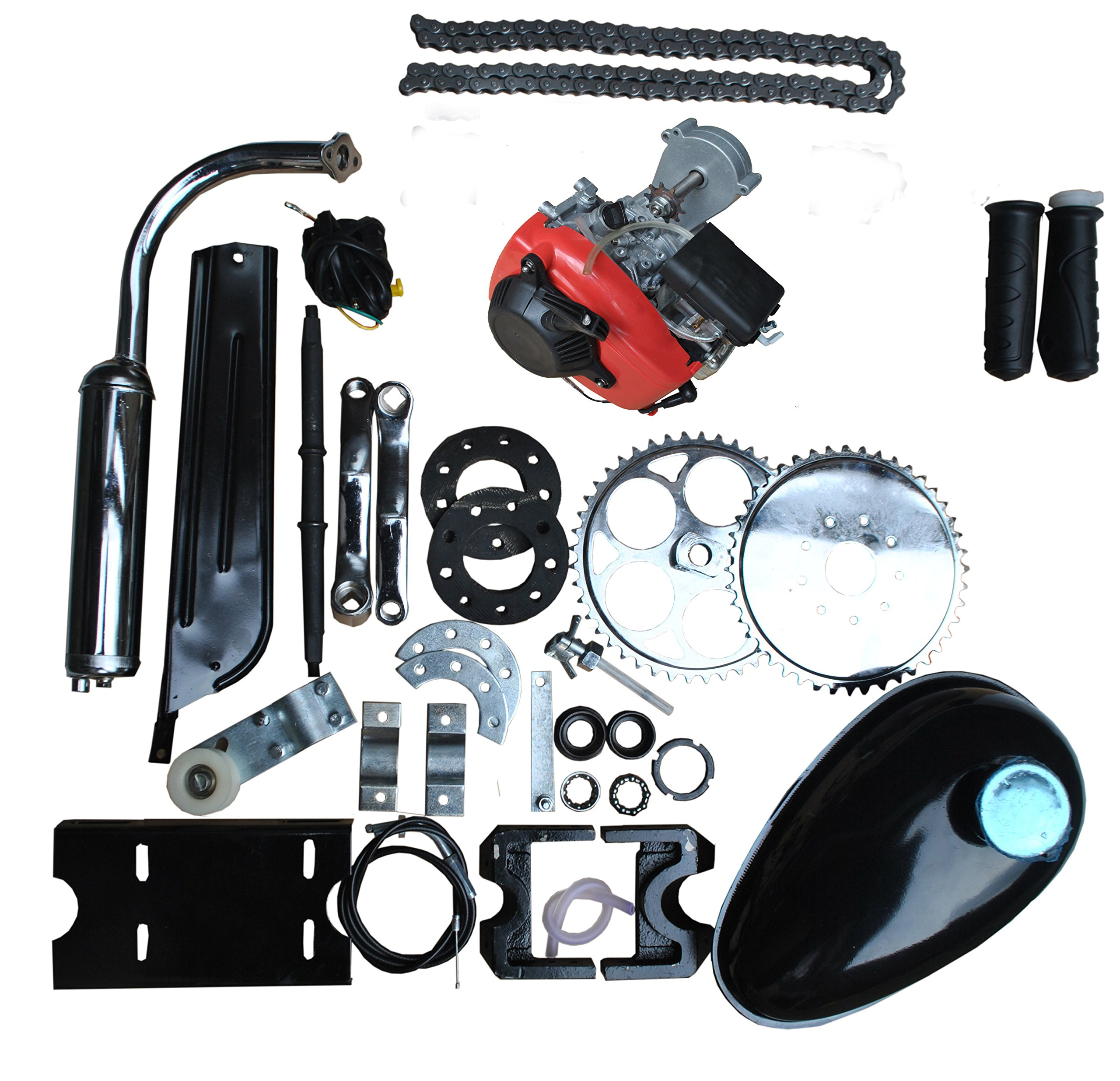 New 4-Stroke 49CC Gas Petrol DIY Motorized Bicycle Bike Engine Motor Kit Scooter by Sican