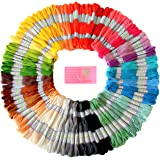 Premium Rainbow Color Embroidery Floss ? Cross Stitch Threads ? Friendship Bracelets Floss ? Crafts Floss ? 105 Skeins Per Pack and Free Set of Embroidery Needles