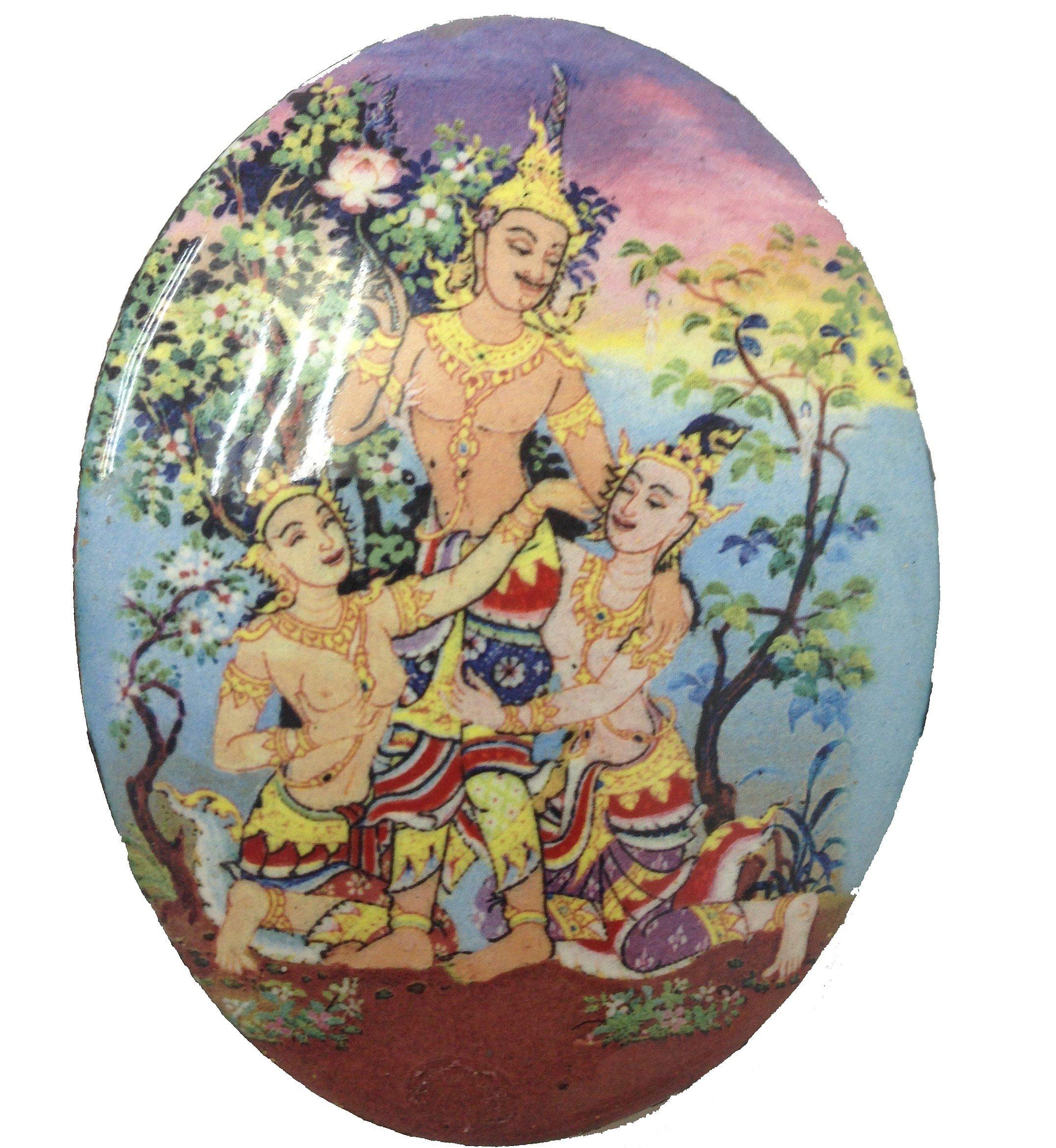 Thai Jewelry Magic Powerful in Love Locket Petch Praya Torn Dewada Jaosanaeh Amulets Pendant Lp.Inn
