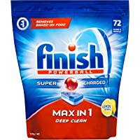 Finish Powerball Max in One Dishwasher Tablets, Lemon Sparkle, 72 tablets