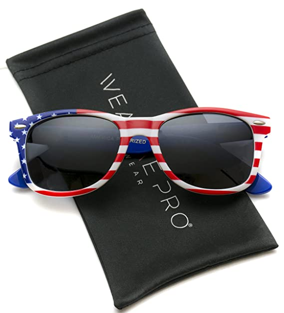 wearme Pro - Bandera de polarizadas Wayfarer Estilo gafas de sol: Amazon.es: Ropa y accesorios