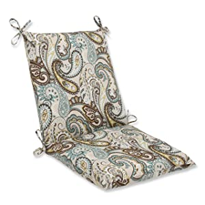 Pillow Perfect Outdoor Tamara Paisley Quartz Squared Corners Chair Cushion