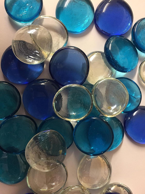 Galets de décoration en verre de couleur bleu ciel, pour aquariums, vases et décoration de tables de mariage Mezzaluna Gifts