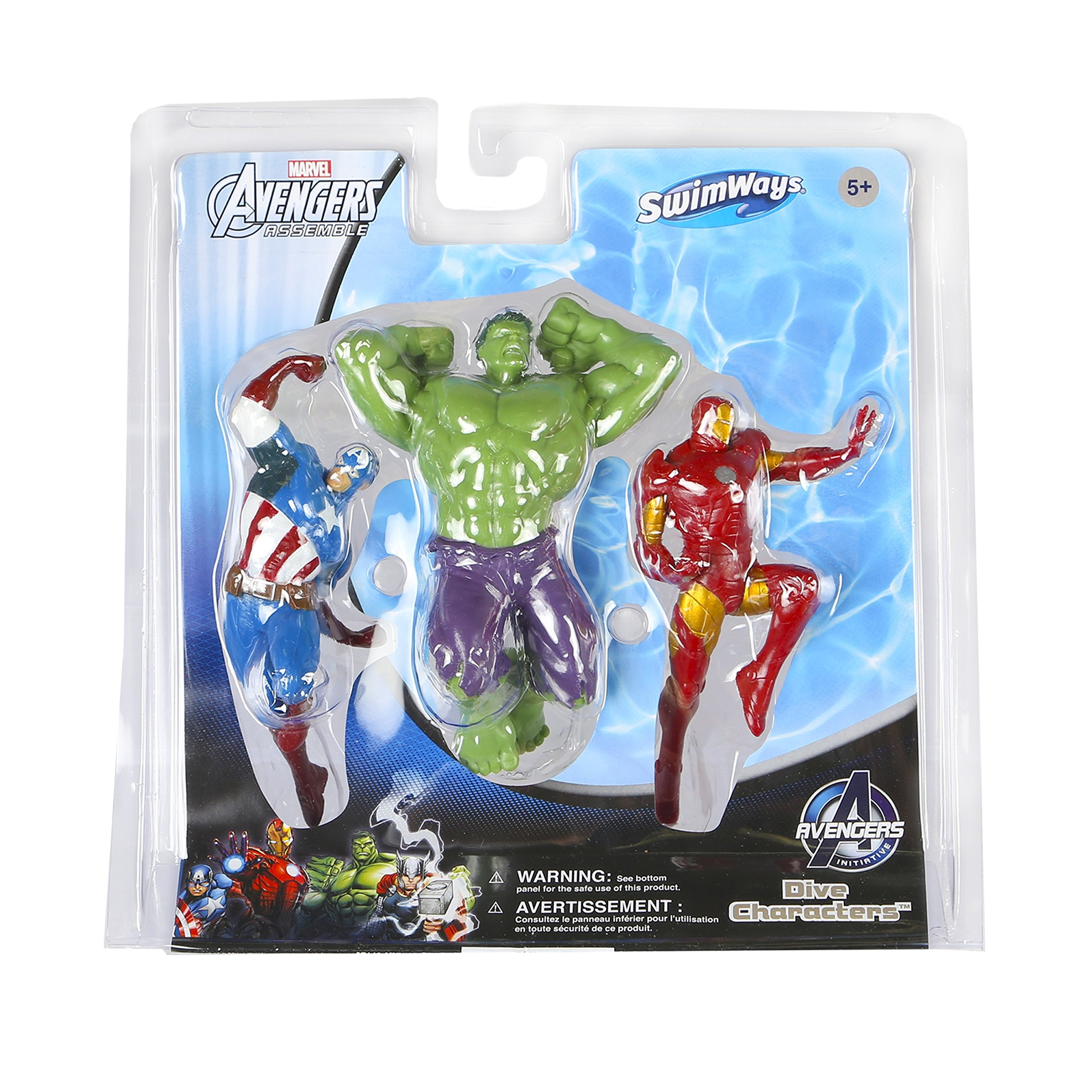 SwimWays Marvel Avengers Dive Characters Kids Pool Toy - Captain America, Hulk, and Iron Man by SwimWays