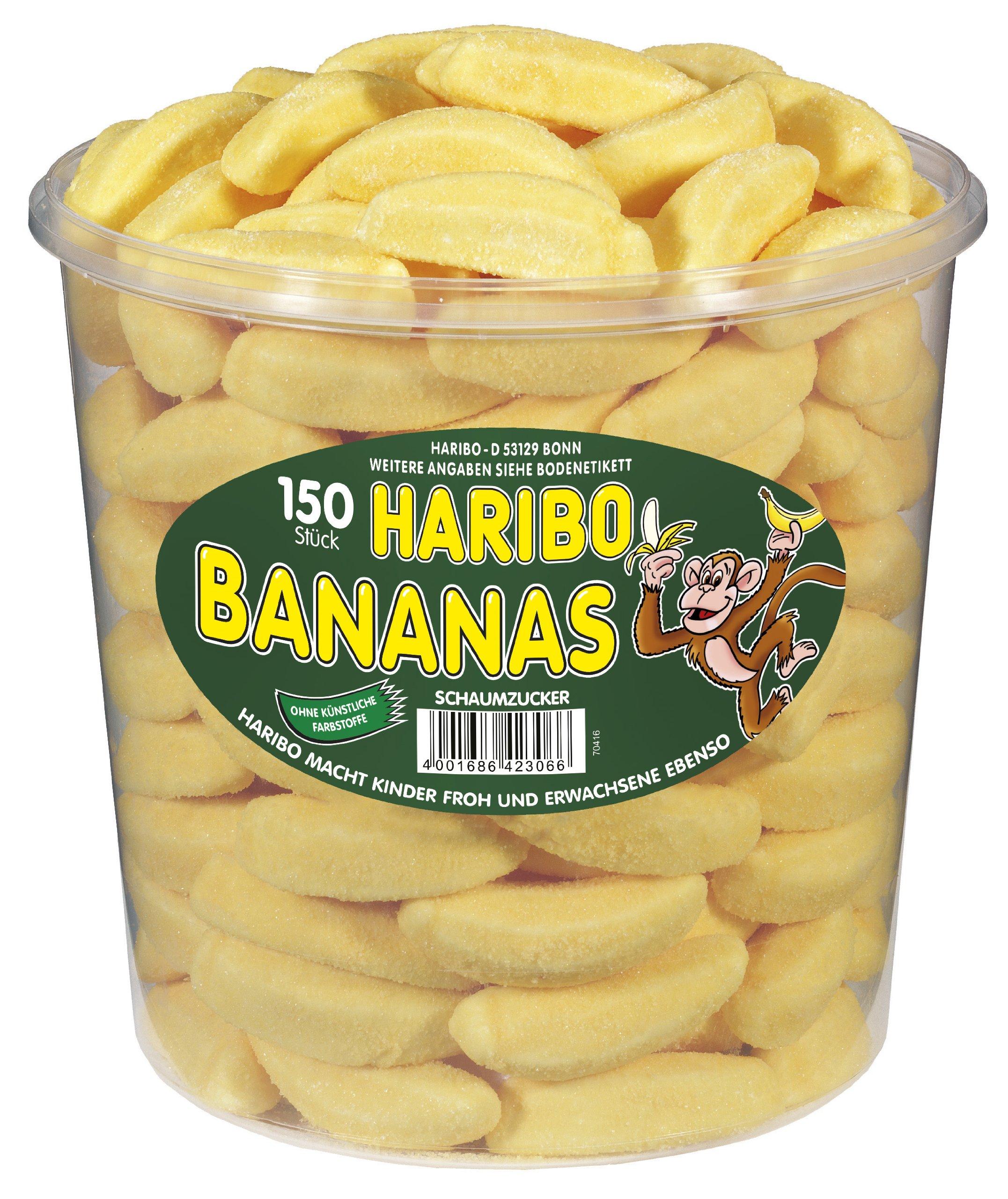 Haribo Bananas Tub -150 pcs