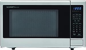 SHARP SMC1132CS Carousel 1.1 Cu. Ft. 1000W Countertop Microwave Oven with Orville Redenbacher's Popcorn Preset (ISTA 6 Packaging) Cubic Foot 1000 Watts Stainless Steel (Renewed)