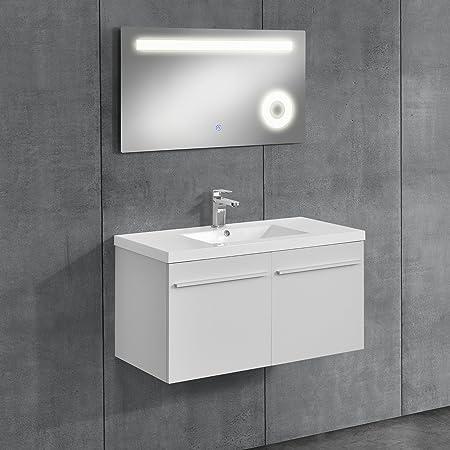 [neu.haus]® Bathroom Furniture / LED Mirror Washbasin Base Cabinet /  Bathroom