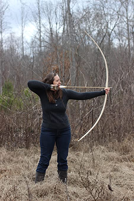 """68/"""" hickory 45lbs @ 28/"""" Right handed Handcrafted Traditional longbow"""