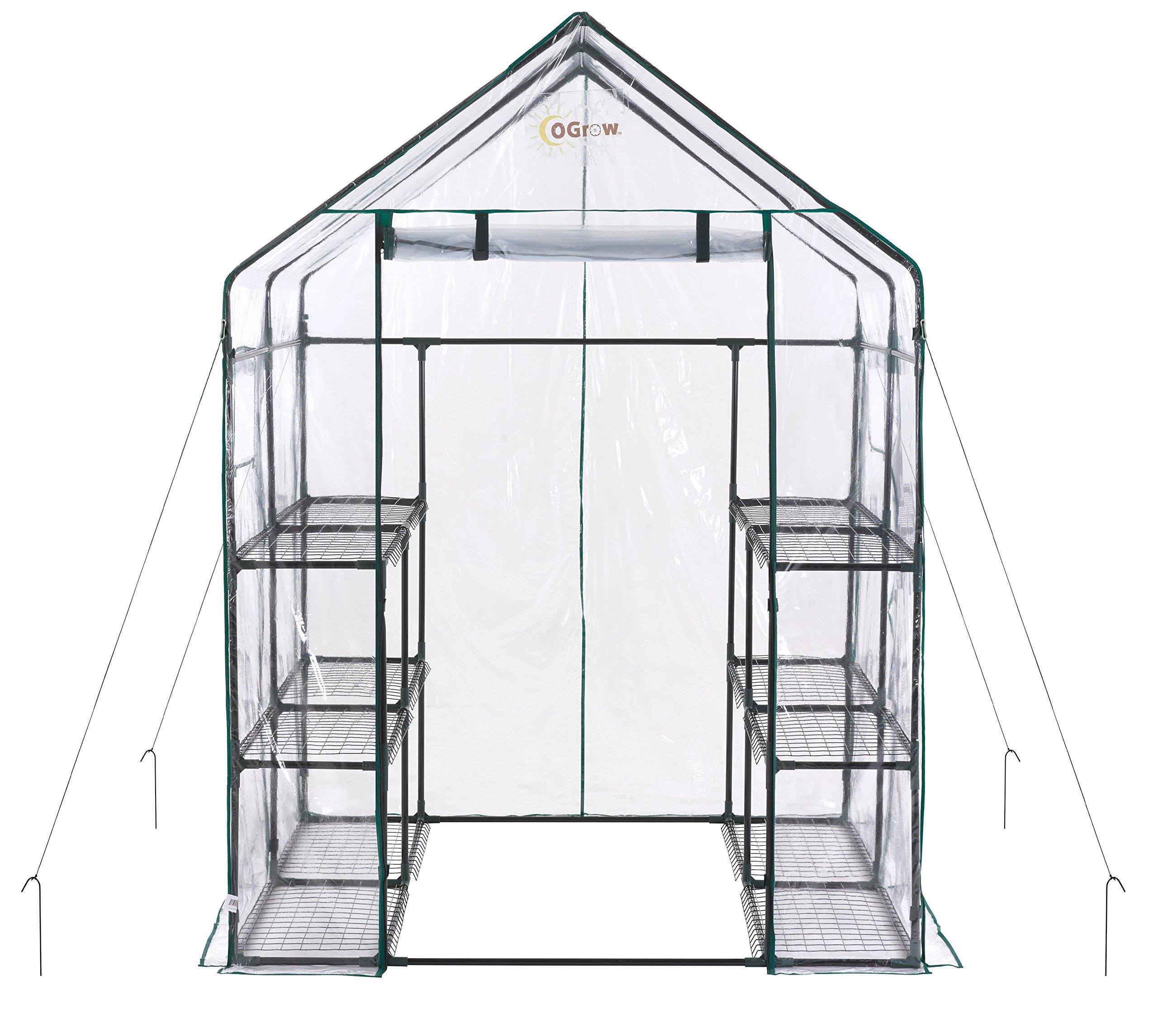 Ogrow Deluxe WALK-IN 6 Tier 12 Shelf Portable GREENHOUSE by OGrow