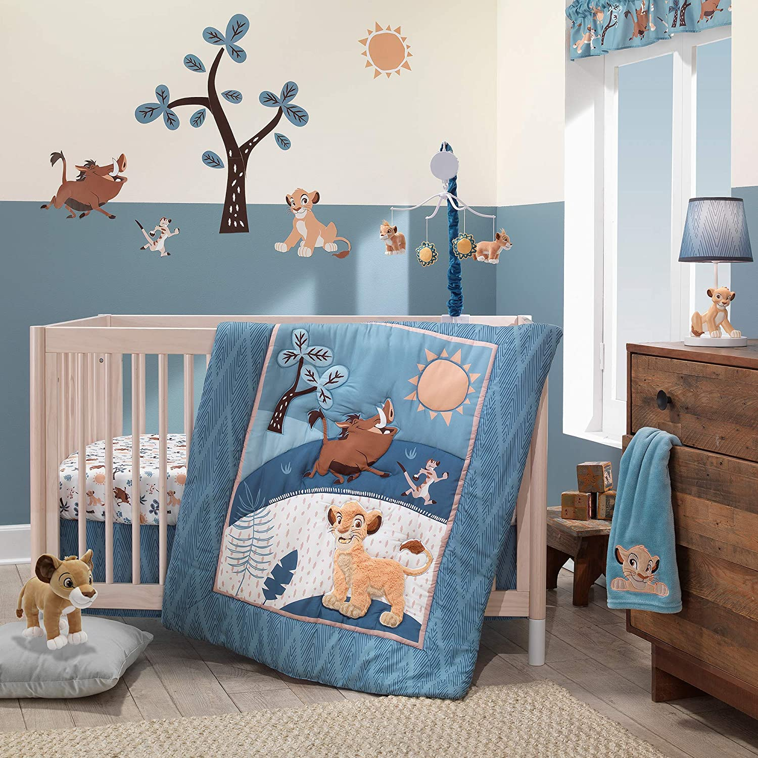 Lambs /& Ivy Disney Baby Lion King Adventure Tree with Simba//Timon//Pumbaa Wall Decals//Stickers