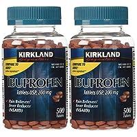 Kirkland Signature USP Ibuprofen, 2 Bottles 200 mg of 500 Tablets Each
