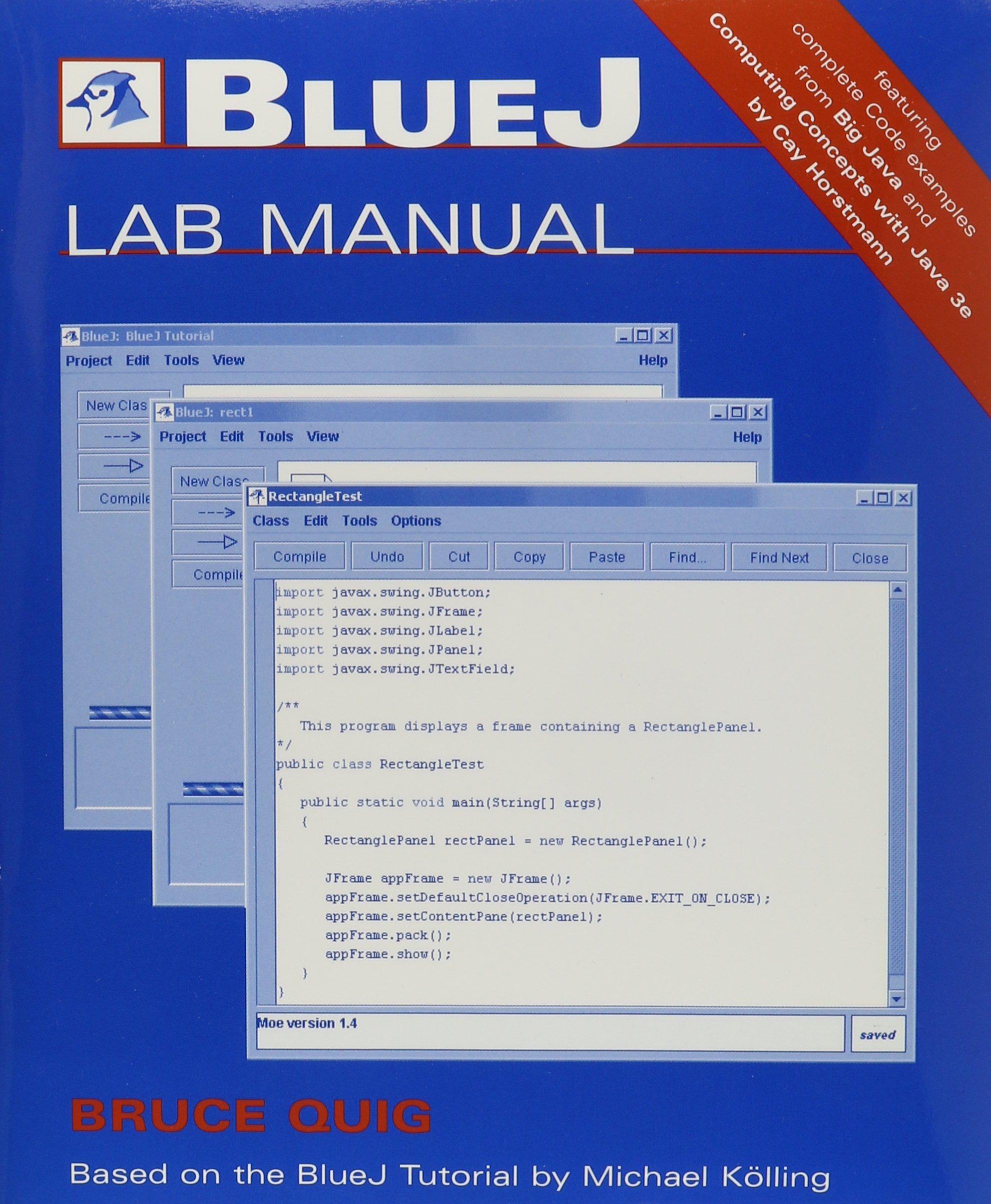 Java bluej tutorial image collections any tutorial examples bluej java tutorial image collections any tutorial examples buy big java with bluej lab manual set baditri Images
