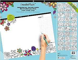 Blueline Doodle Plan Coloring Desk Pad, Garden Design, 22 x 17 (A2917313P)
